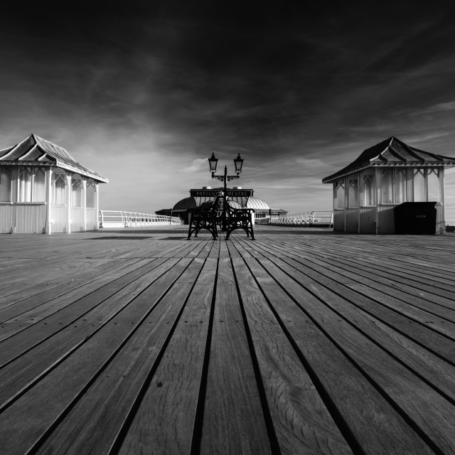 """Cromer pier deck, mono ii low aspect"" stock image"