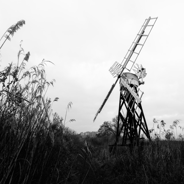 """Clayrack mill, How Hill ii"" stock image"