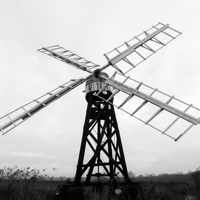 """Clayrack mill, How Hill iii"" stock image"