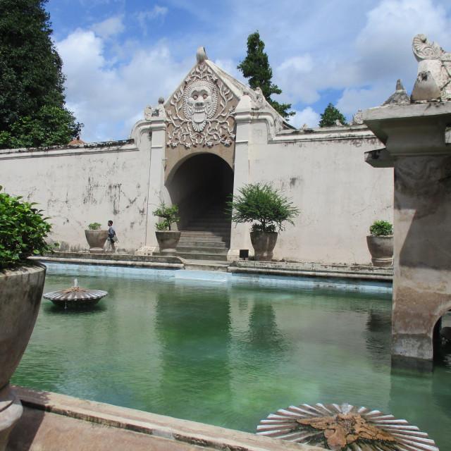 """Sultan's water palace in Yogyakarta, Java"" stock image"