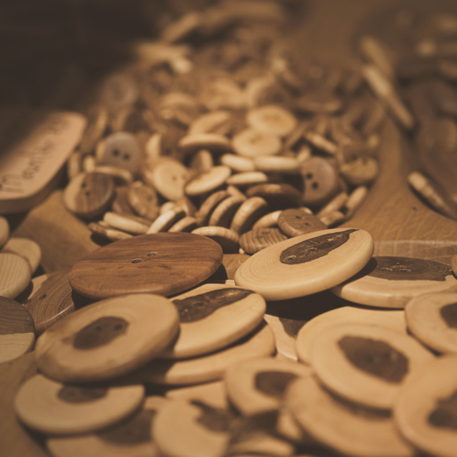 """Assorti of the wood buttons. Buttons paradise"" stock image"