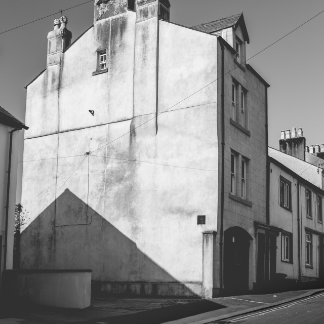 """""""Wonky building and shadows"""" stock image"""