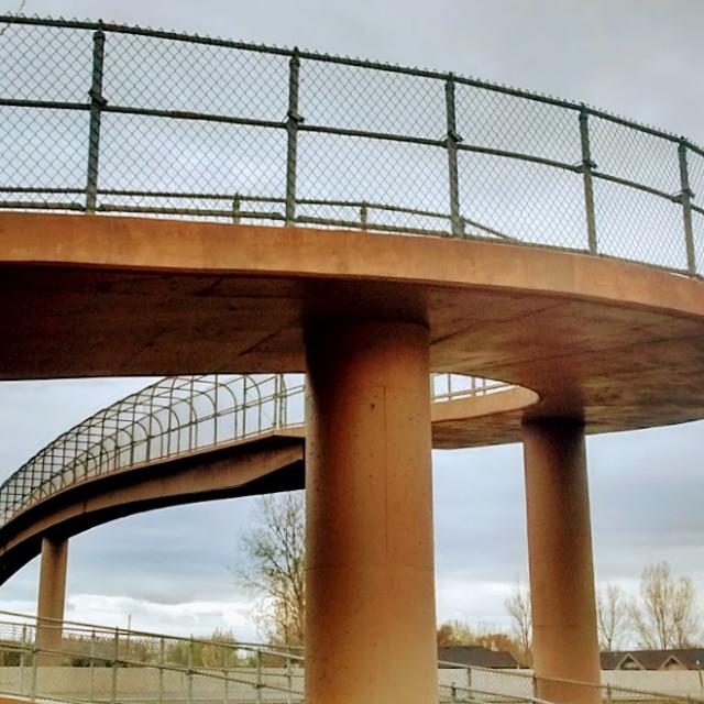 """Pedestrian Overpass"" stock image"