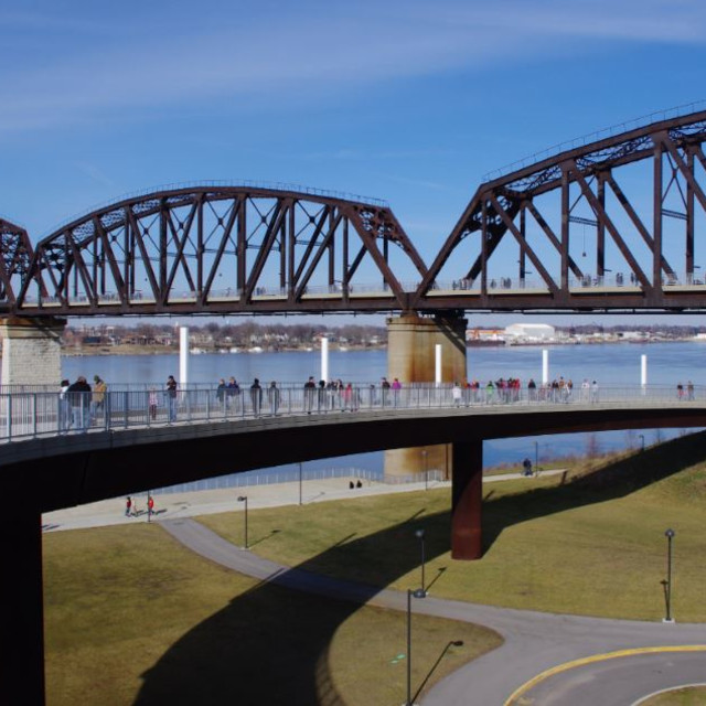 """Big 4 Bridge Louisville Kentucky"" stock image"