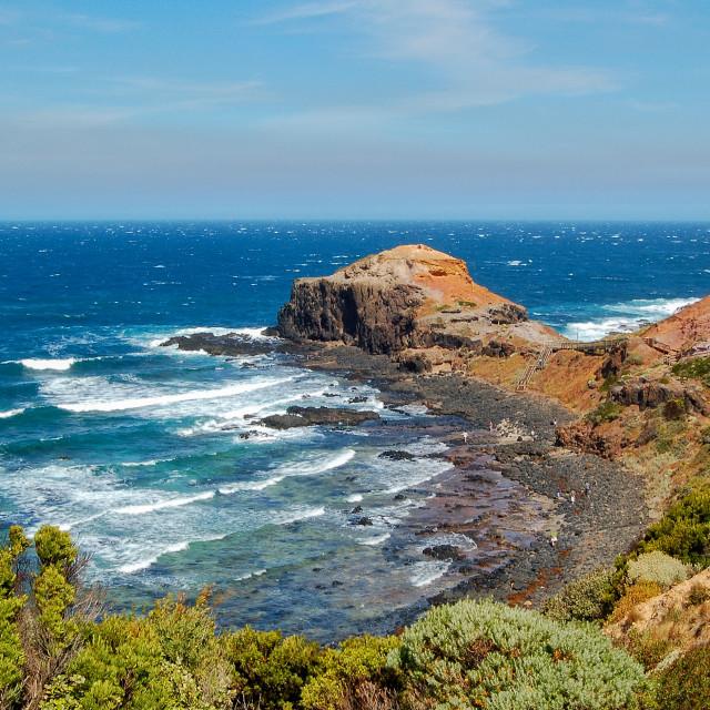 """Cape Schanck - Mornington Peninsula"" stock image"