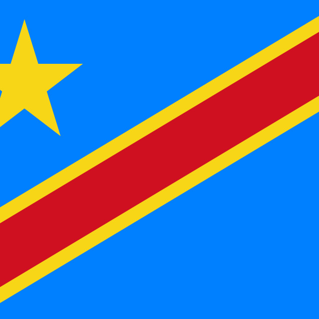 """Flag of the Democratic Republic of the Congo"" stock image"