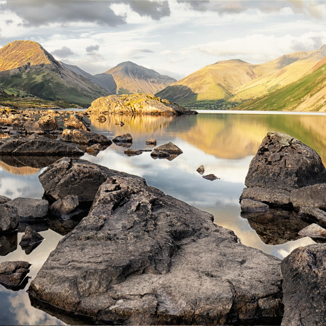 """Wastwater Morning"" stock image"