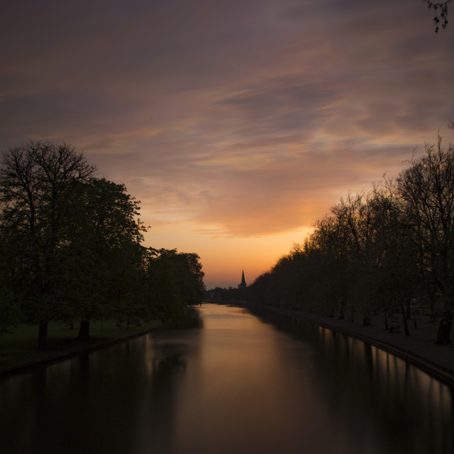 """""""Sunset from a bridge"""" stock image"""