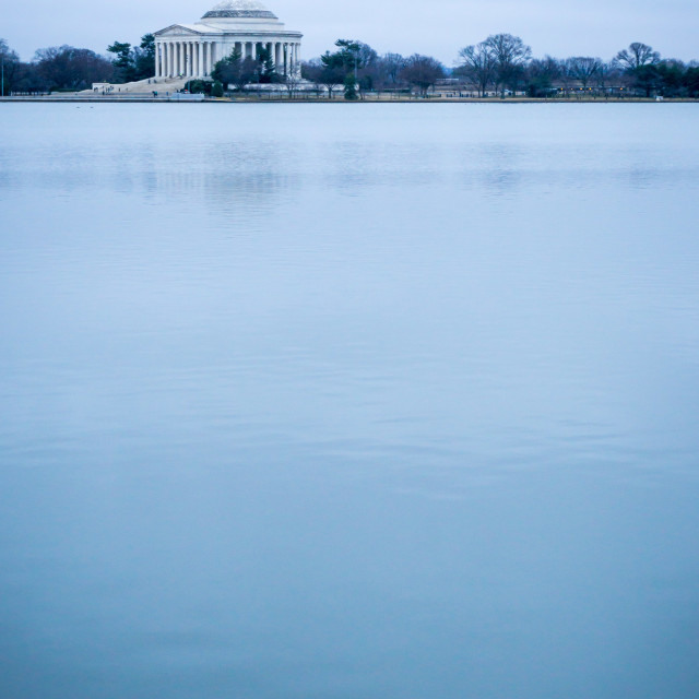 """Jefferson Memorial beyond the Tidal Basin"" stock image"