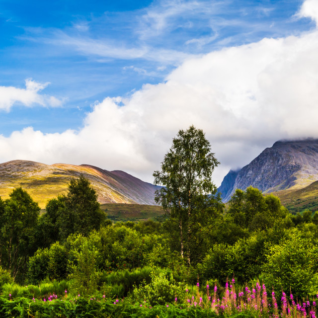 """Below the Nevis Range"" stock image"
