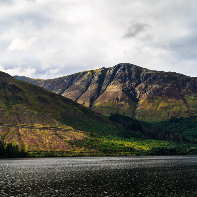 """Sunlight Across the Loch"" stock image"