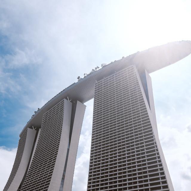 """""""Sunny Marina Bay Sands Closed up"""" stock image"""