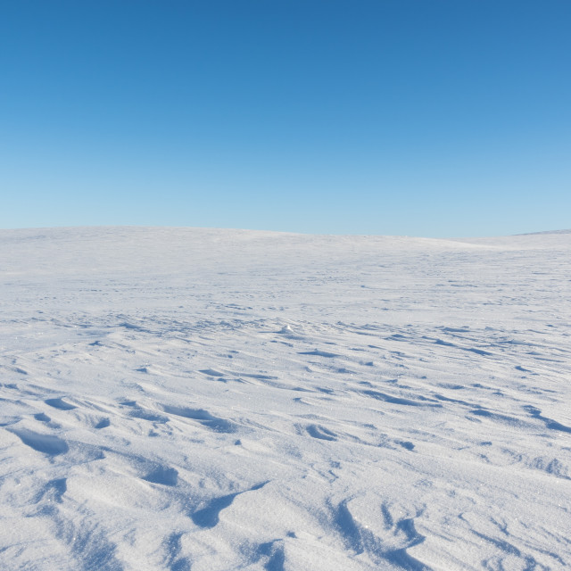 """Finnmark plateau in winter time"" stock image"