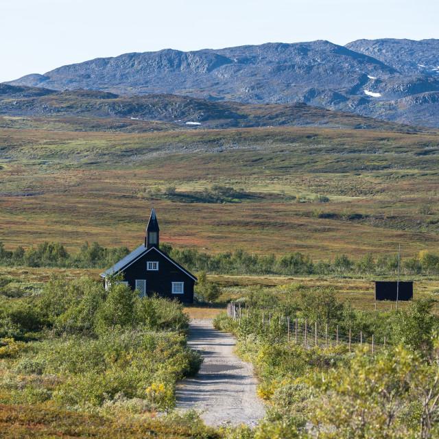 """Aisaroaivi chapel in Finnmark"" stock image"
