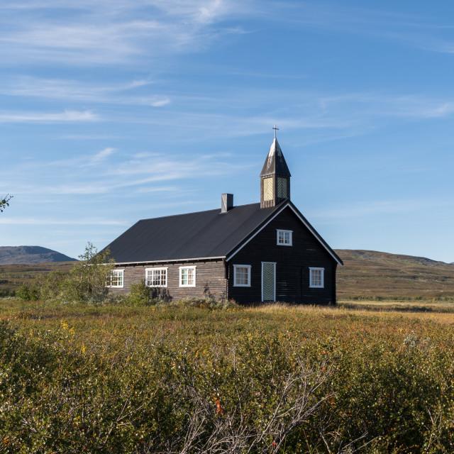 """Aisaroaivi chapel in summer"" stock image"