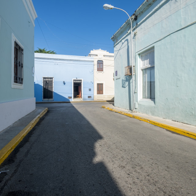 """""""Street view in the centre of Merida downtown in Mexico"""" stock image"""