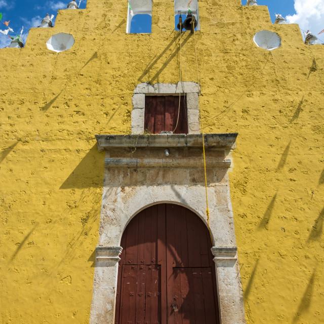 """Iglesia de la Santisima Trinidad church in Cuzama in Yucatan Mexico"" stock image"