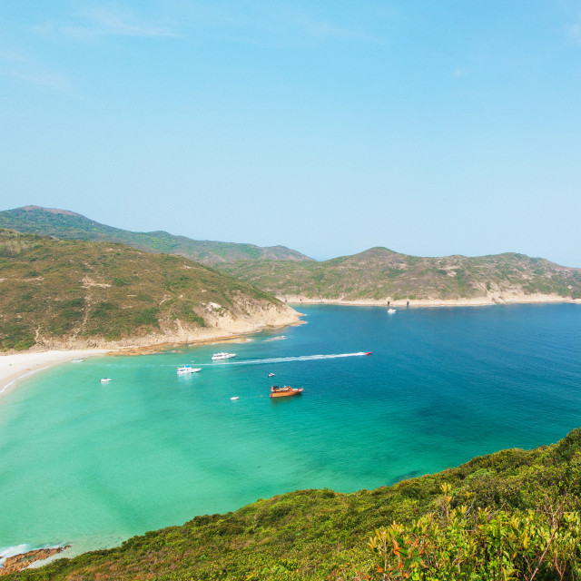 """Hong Kong beach at daytime"" stock image"