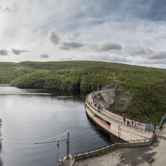 """""""Alta dam"""" stock image"""
