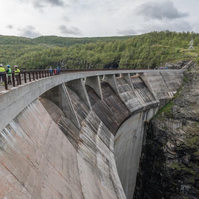 """Alta dam close up"" stock image"