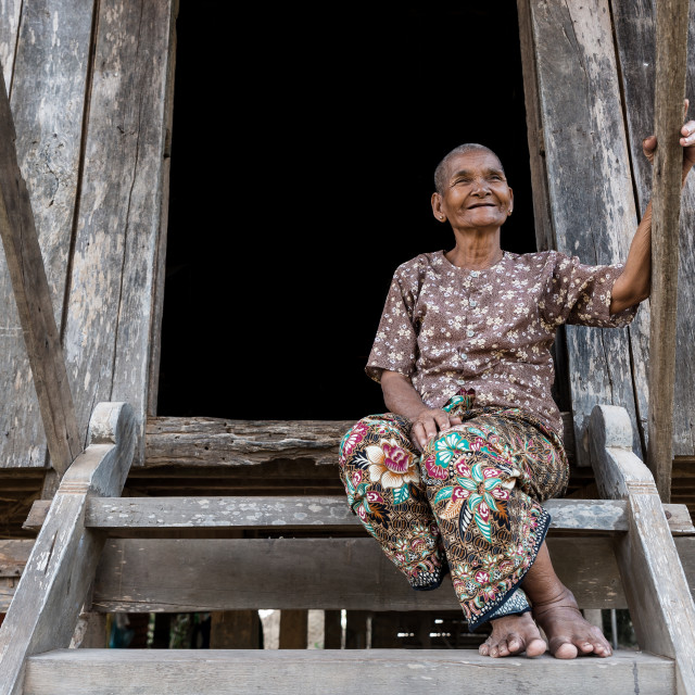 """Portrait of a cambodian woman"" stock image"