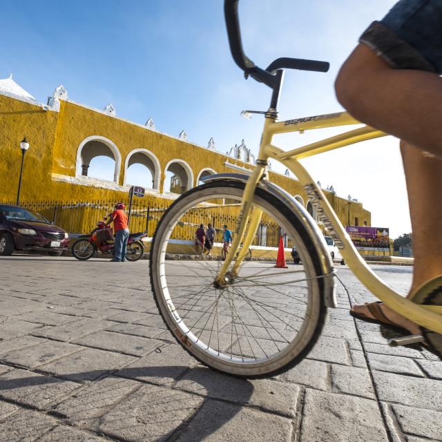 """""""Church in Izamal in Mexico"""" stock image"""
