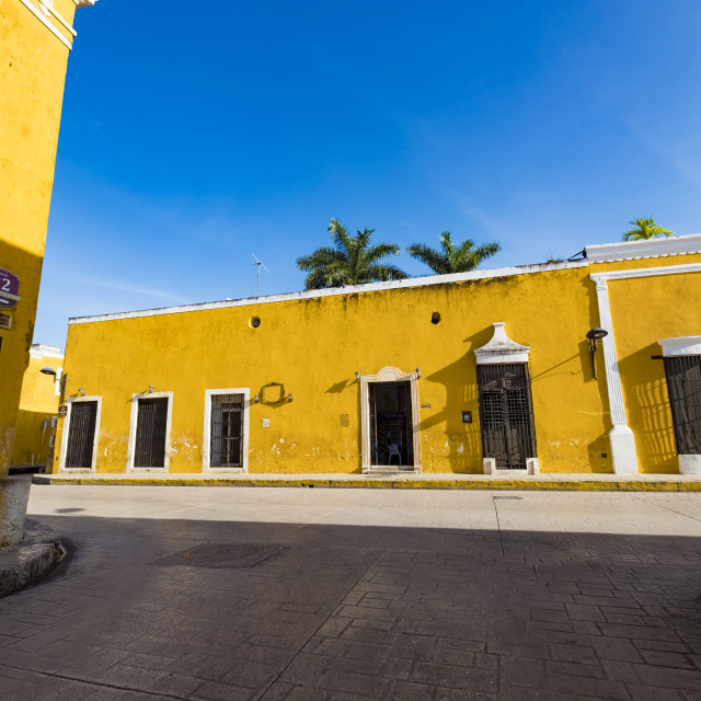 """Izamal, the yellow colonial city of Yucatan, Mexico"" stock image"