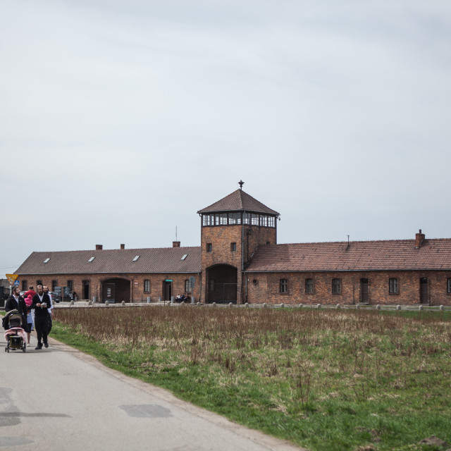 """Auschwitz on Yom Hashoah"" stock image"