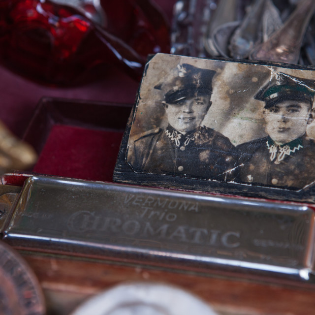 """World War 2 relics for sale"" stock image"