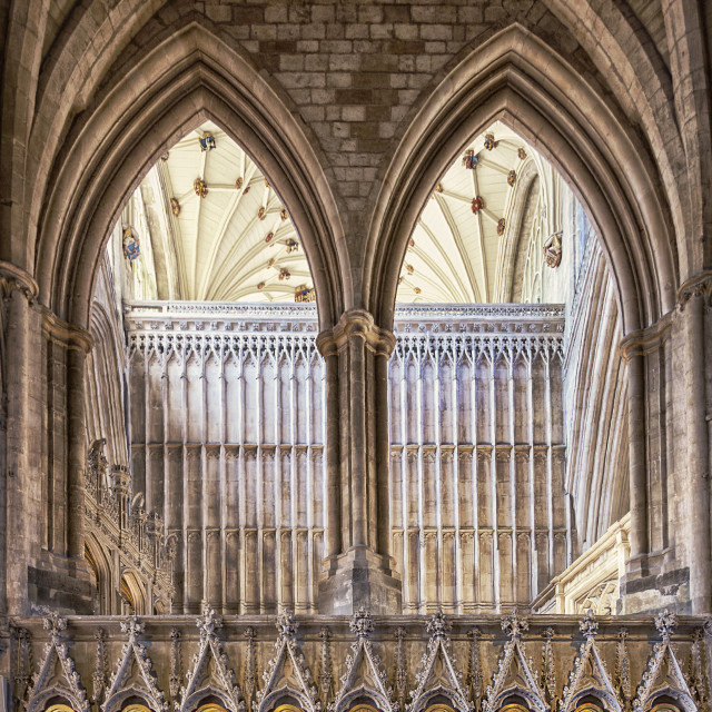 """Winchester Cathedral I"" stock image"