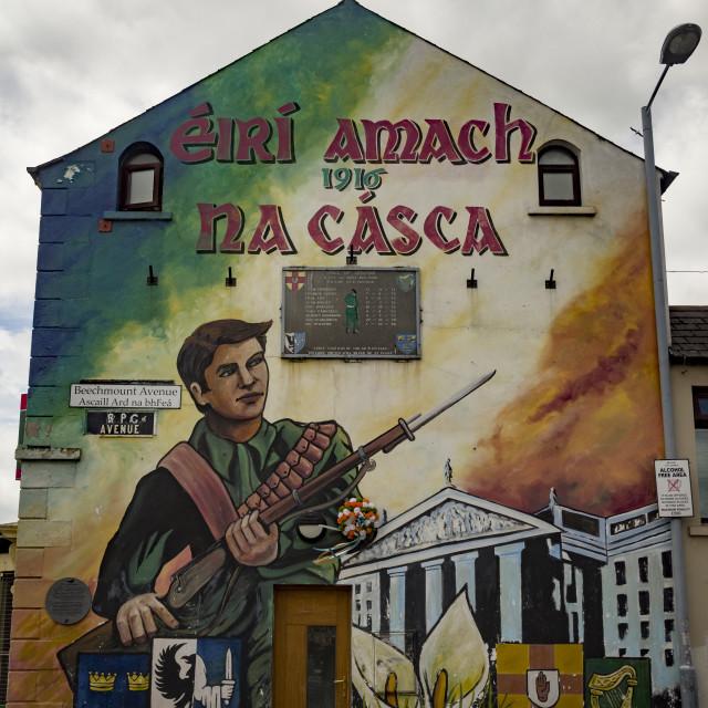 """""""Nationalist Mural, Belfast"""" stock image"""