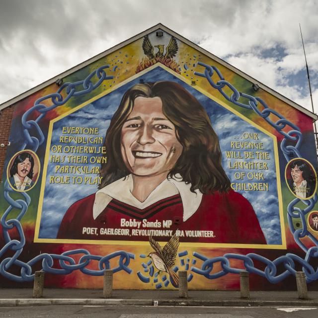 """Bobby Sands Nationalist Mural, Belfast"" stock image"