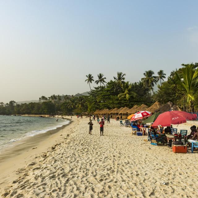 """Two mile beach, Sierra Leone"" stock image"