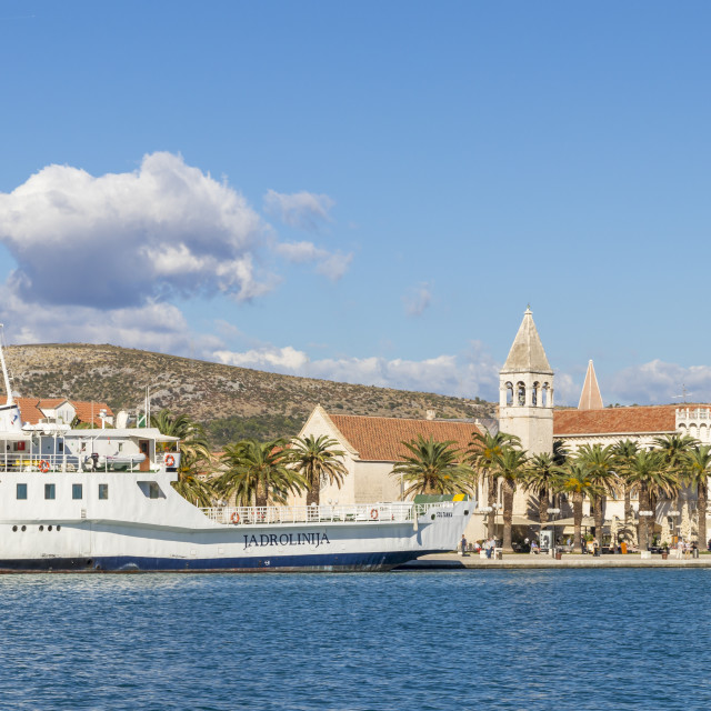"""Cityscape of the old town of Trogir"" stock image"