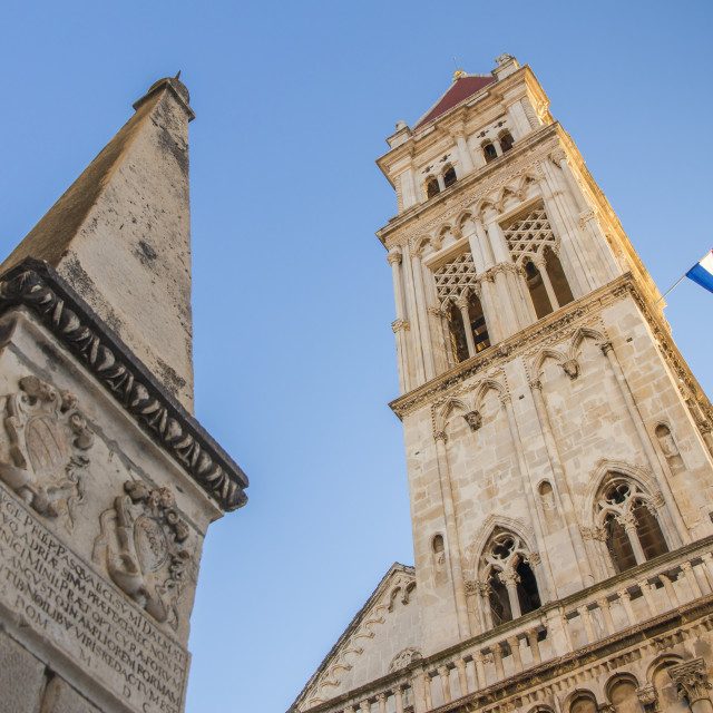 """Cathedral of St. Lawrence inside the old town of Trogir"" stock image"