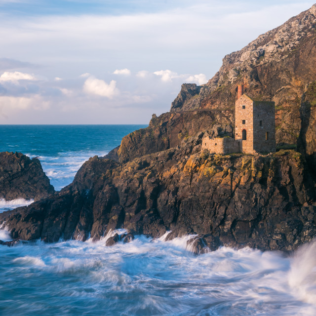 """The Crown Tin Mines in Botallack in Cornwall"" stock image"