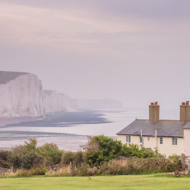 """Cuckmere Haven East Sussex, Seven Sisters, East Sussex"" stock image"