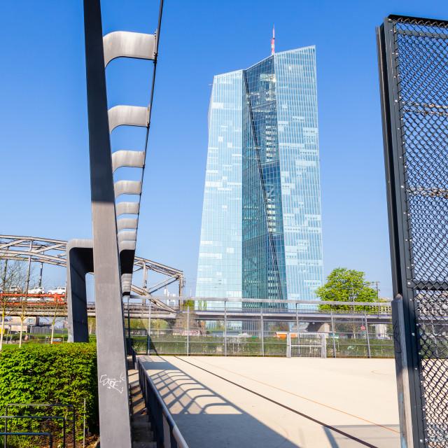 """""""Frankfurt, ECB"""" stock image"""