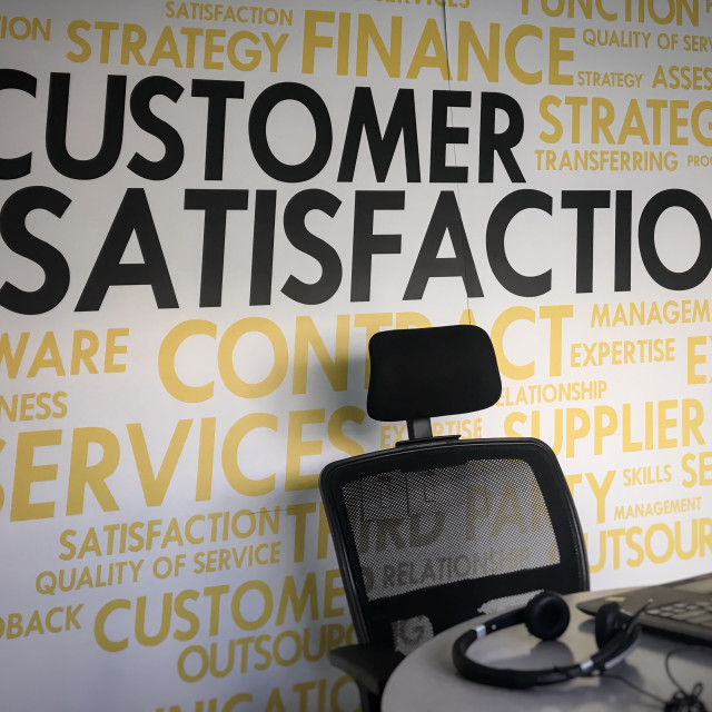 """Customer is king"" stock image"