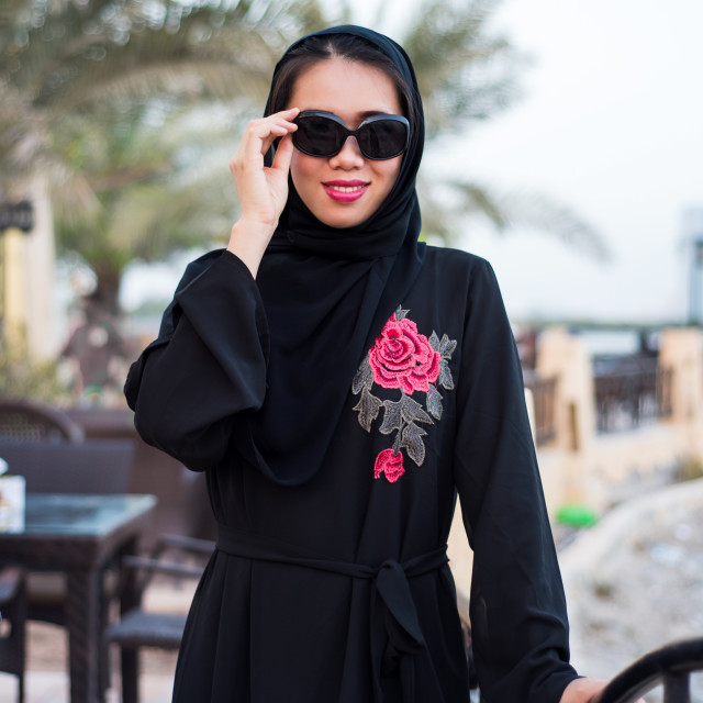 """""""Beautiful muslim woman in hijab"""" stock image"""