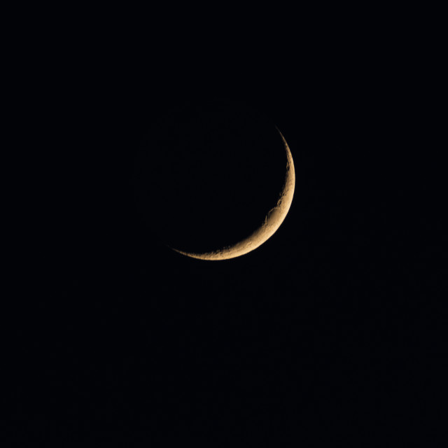 """Waxing Crescent Early Phase"" stock image"
