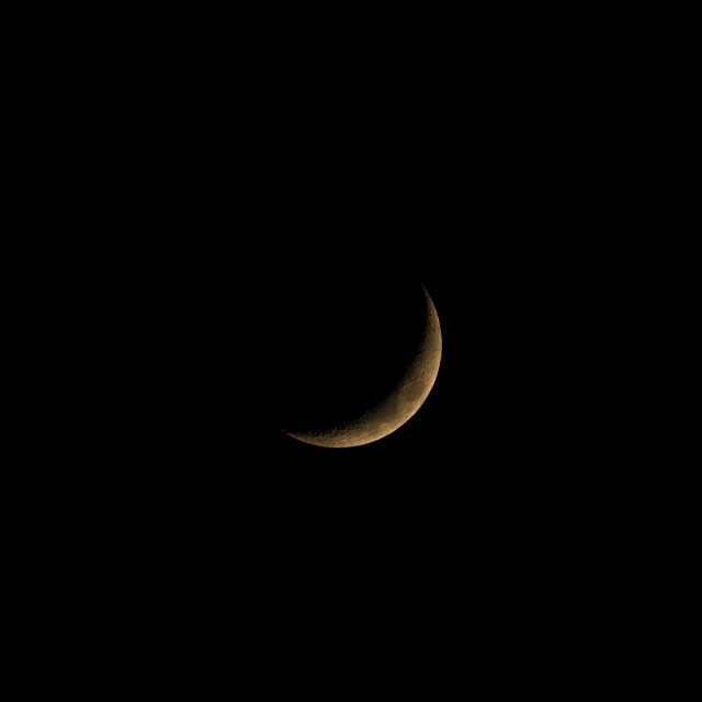 """Waxing Crescent Late Phase"" stock image"