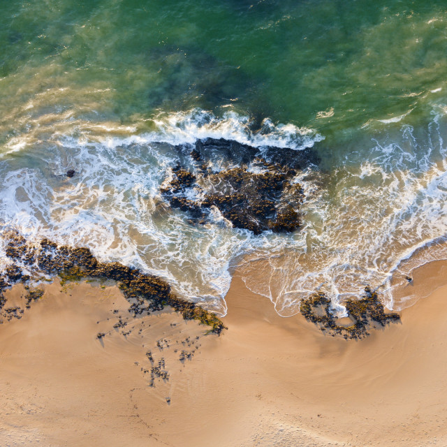 """Turbulent Tide: Bunbury, Western Australia"" stock image"