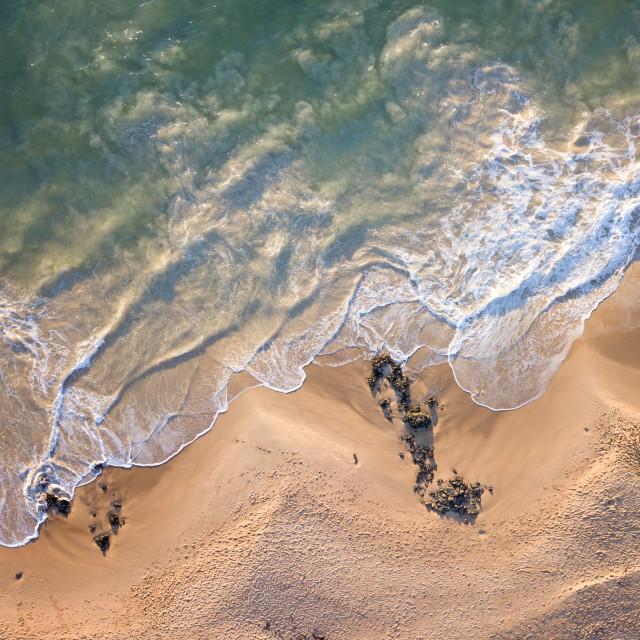"""Turbulent Tide #3: Bunbury, Western Australia"" stock image"