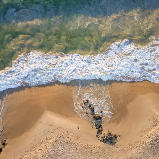 """Turbulent Tide #2: Bunbury, Western Australia"" stock image"