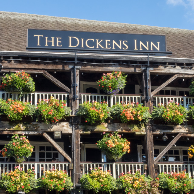 """The DIckens Inn at St Katherine Docks London"" stock image"