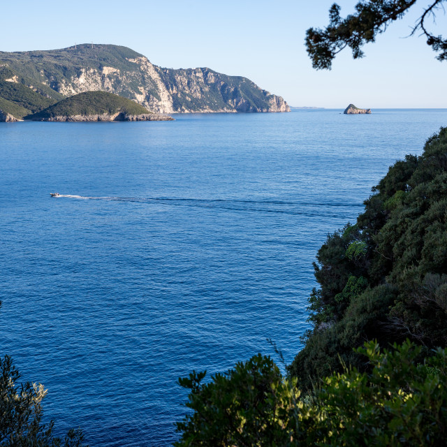 """Scenery view from Corfu, Greece"" stock image"