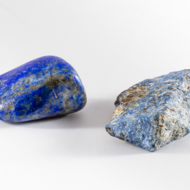 """Rough and Tumbled: Lapis Lazuli"" stock image"