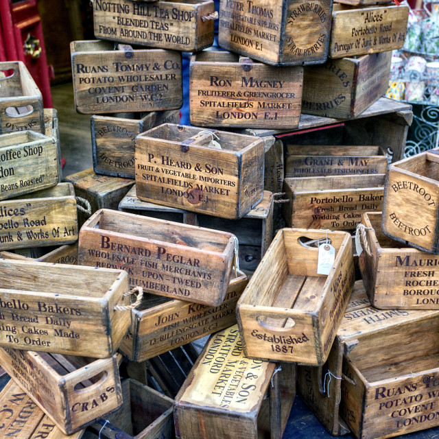 """Wooden Boxes & Crates"" stock image"
