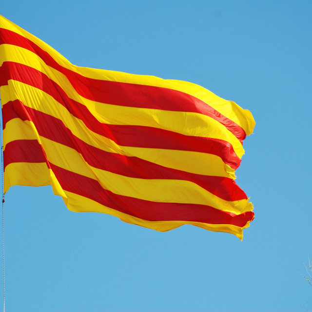 """Flag of Catalonia"" stock image"